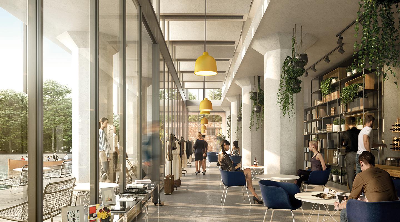Meelpakhuis hal, Interieur Meelpakhuis, De Meelfabriek in Leiden