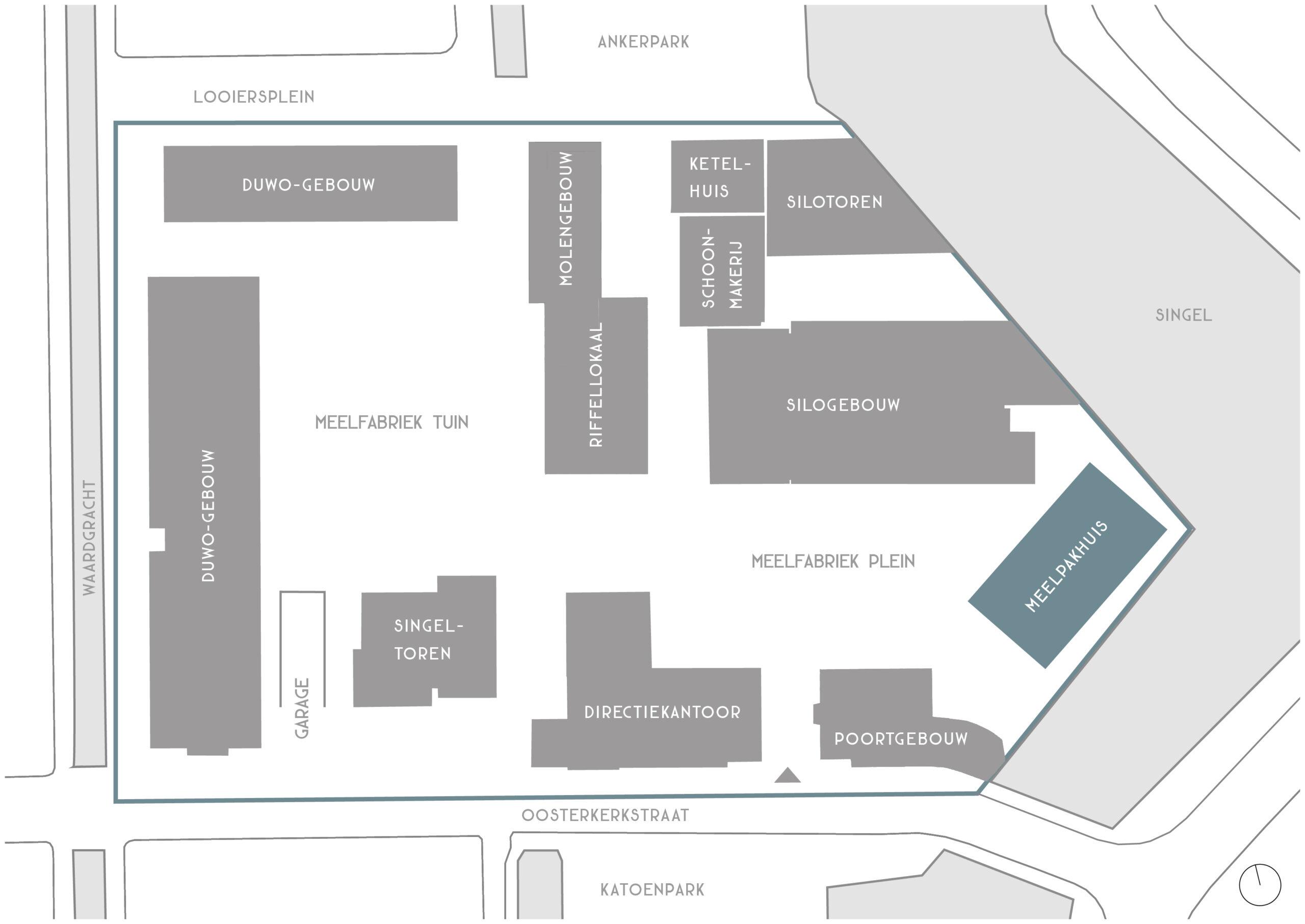 Overzicht De Meelfabriek - Meelpakhuis