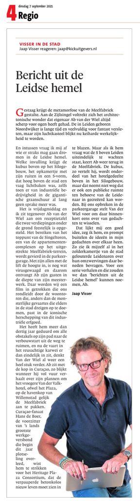 Leidsch Dagblad, De Meelfabriek in Leiden