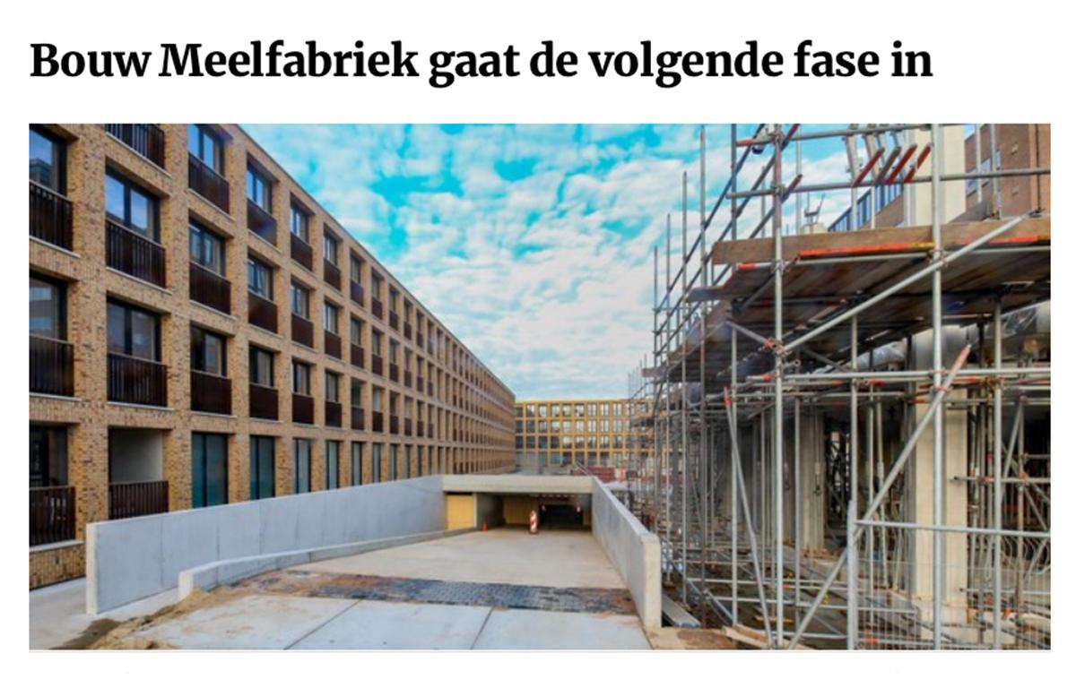 Bouw Meelfabriek gaat de volgende fase in